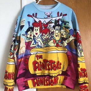 Flintstones all over print sweatshirt